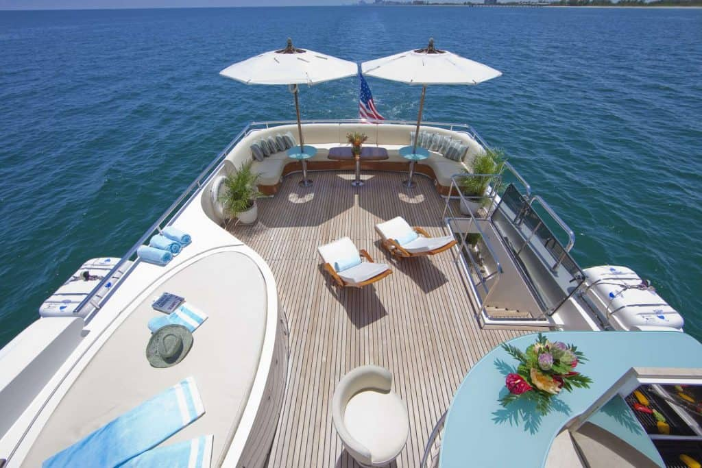 Motor Yacht Charter Chillout Area