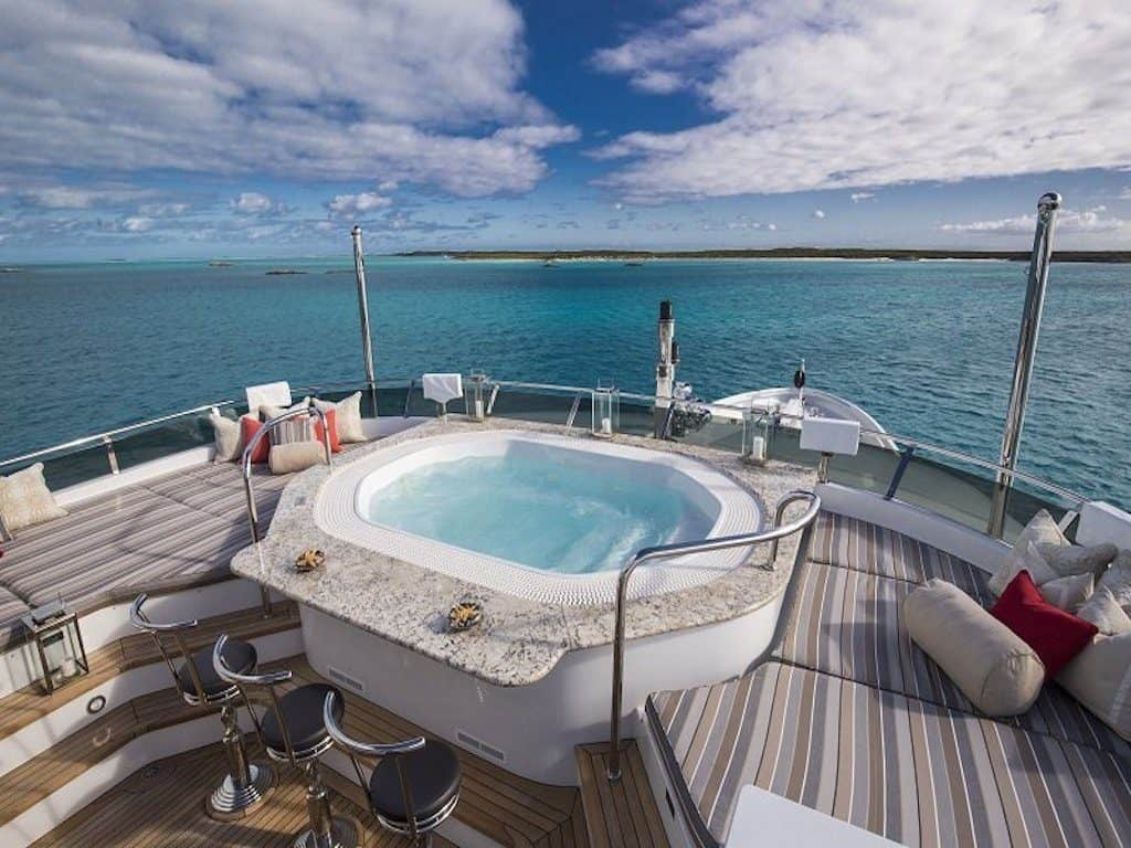 Motor Yacht Charter Jacuzzi on the Aft Deck
