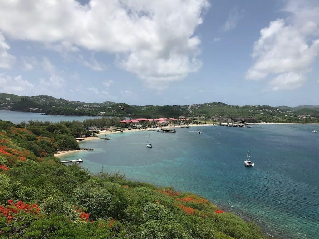 St Lucia Yacht Charter Rodney Bay from Pigeon Island