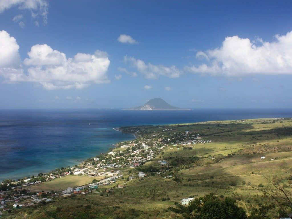 St Kitts Yacht Charter Views to St Eustatius from Brimstone Fort