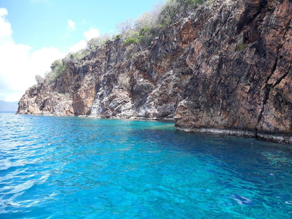 The Caves Norman Island on a BVI Crewed Yacht Charter